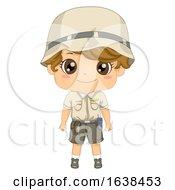 Kid Boy Zoo Keeper Illustration