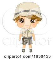 Kid Boy Zoo Keeper Illustration