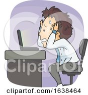 Man Laptop Problem Illustration