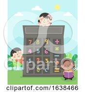 Kids Numbers Calculator Illustration