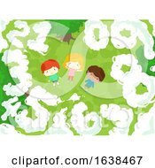 Kids Numbers Clouds Illustration