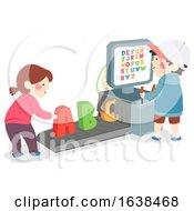 Kids Scanning Machine Alphabet Illustration