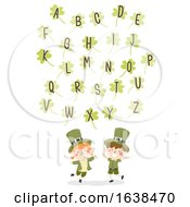 Kids St Patrick Clovers Alphabet Illustration