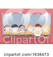 Kids Choral Reading Stage Illustration
