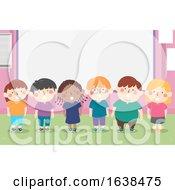 Kids Choral Recitation Classroom Illustration