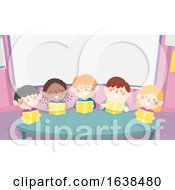 Kids Choral Reading Classroom Table Illustration
