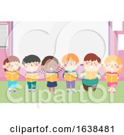Kids Choral Reading Classroom Illustration