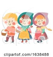 Poster, Art Print Of Kids Sweden Easter Witch Illustration