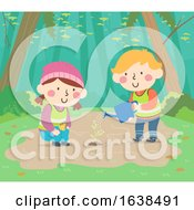 Kids Sweden Nature Plant Tree Illustration