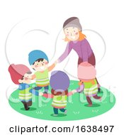 Kids Sweden Teacher Nature Play Illustration