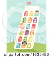 Kids Tower Of Pisa Numbers Illustration