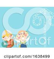 Poster, Art Print Of Kids Viking Sweden Midsummer Pole Festival