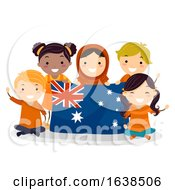Stickman Kids Harmony Day Australia Illustration