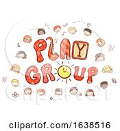 Stickman Kids Play Group Illustration