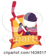 Kid Junior Hockey Ribbon Illustration