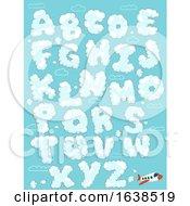 Airplane Clouds Alphabet Illustration