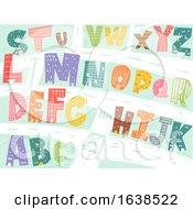 Buildings Alphabet Illustration