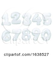 Snow Form Numbers Illustration
