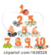 Sports Balls Numbers Illustration