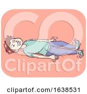 Man Myoclonic Seizures Illustration