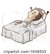 Man Low Blood Restlessness Illustration