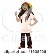 Man Sub Culture Rastafarian Man Illustration