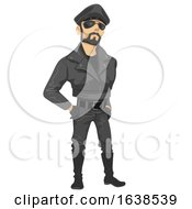 Man Sub Culture Leather Man Illustration