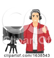 Man Camera Man Ok Illustration