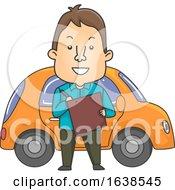 Man Driving Instructor Illustration