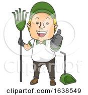 Man Poop Cleaner Job Ok Illustration