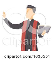 Man Priest Bible Preach Illustration