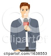 Man Reporter Illustration