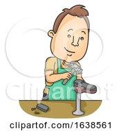 Man Shoe Repair Illustration
