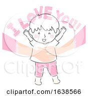 Poster, Art Print Of Kid Boy Mom Affirm Love Illustration