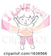 Kid Boy Mom Affirm Love Illustration