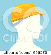 Man Profile Construction Worker Illustration