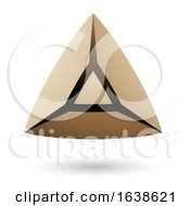 Beige And Blue Triangle Design