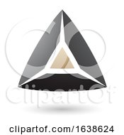 Beige And Black Triangle Design