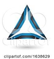 Black And Blue Triangle Design
