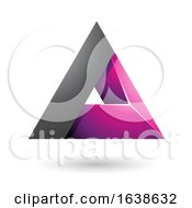 Black And Magenta Triangle Design