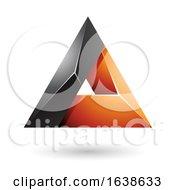 Black And Orange Triangle Design