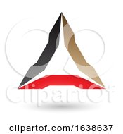 Black Beige And Red Triangle Design