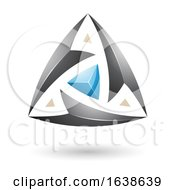 Black And Blue Triangle Design