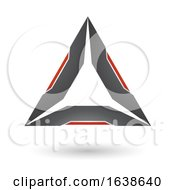 Black And Red Triangle Design