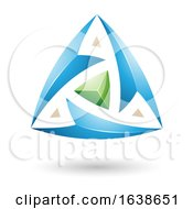 Blue And Green Triangle Design