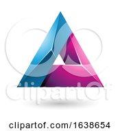 Blue And Magenta Triangle Design