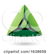 Green And Black Triangle Design