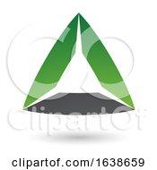 Green And Black Triangle Design