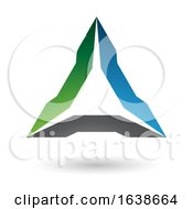 Green Blue And Black Triangle Design