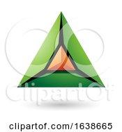 Green And Orange Triangle Design